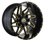 "Elevate 8.8 Sort/Poleret Gul 20""(ELV8.820125127/139.7-44Y/M)"