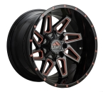 "Elevate 8.8 Sort/Poleret Rød 20""(ELV8.820126135/139.7-44R/M)"