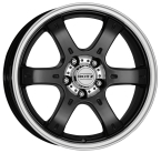 "DOTZ 4X4 Crunch Black/polished 16""(4026569316228)"