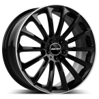 "GMP Stellar shiny black diamond lip 19""(GTALU810-683)"