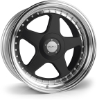 "Dare F5 Black Polished Lip Black Polished Lip 17""(D17754100-108BPDF535-Dare-35-4x100-17-7.5)"
