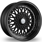 "Dare RS Matt Black - Chrome Rivets Matt Black / Chrome Rivets 16""(D16804100-108MBDRS25-Dare-25-4x100-16-8)"