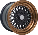 "Dare RS Matt Black Bronze - Chrome Rivets Matt Black Bronze / Chrome Rivets 16""(D16804100-108BBDRS25-Dare-25-4x100-16-8)"