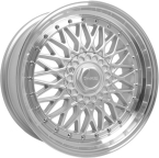 "Dare RS Silver Polished - Chrome Rivets Silver Polished / Chrome Rivets 15""(D15704100-108SPDRS20-Dare-20-4x100-15-7)"