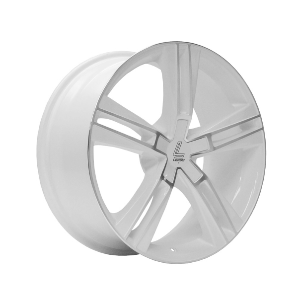 Lenso ES6 GLOSS WHITE/ POLISHED FACE 19""