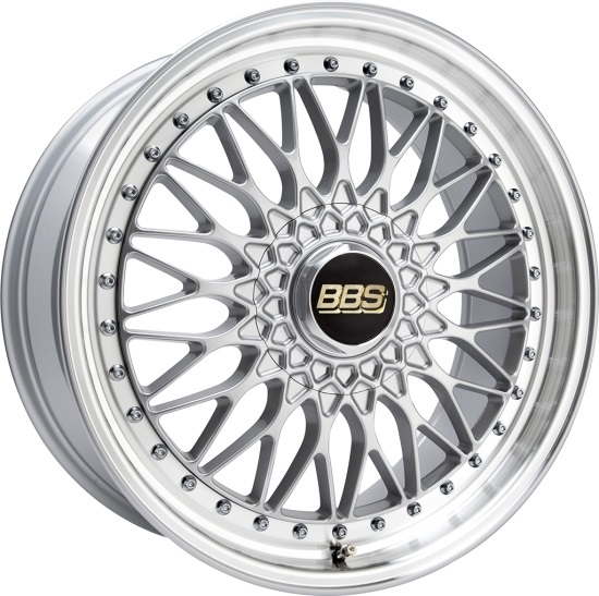BBS Super RS Brilliant Sølv 19""