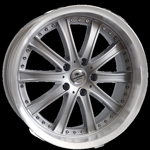 Forzza Code Silver-Lip Machined Silver/Lip Machined 19""