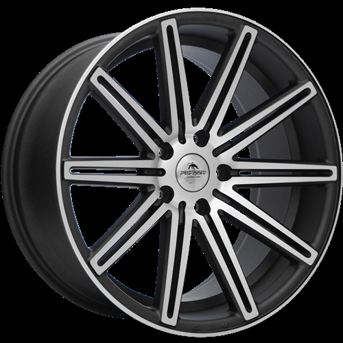 Forzza Vertin Grey Matt Face Machined Grey Matt Face Machined 18""