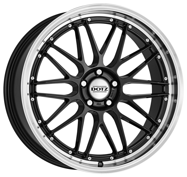 Dotz Revvo dark Gunmetal/polished lip 18""