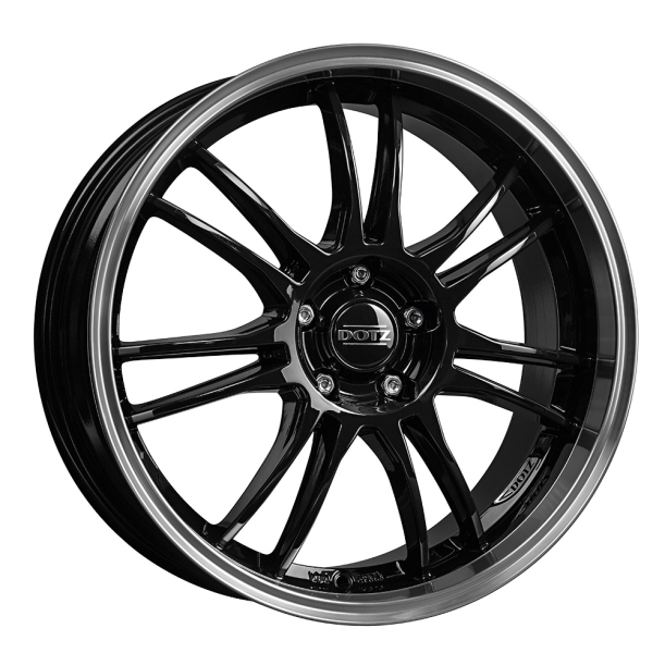 Dotz Shift Black/polished lip 18""