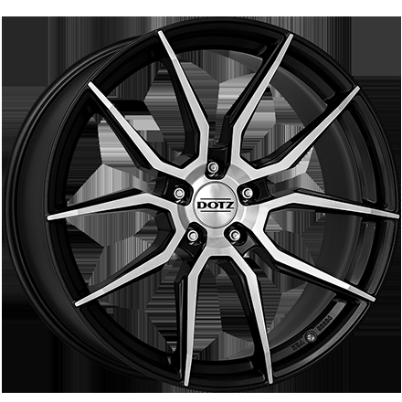 Dotz Misano dark Gunmetal/polished 18""