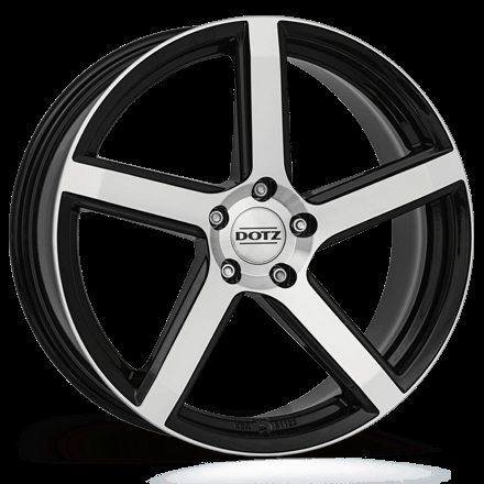 Dotz CP5 dark Black/polished 18""