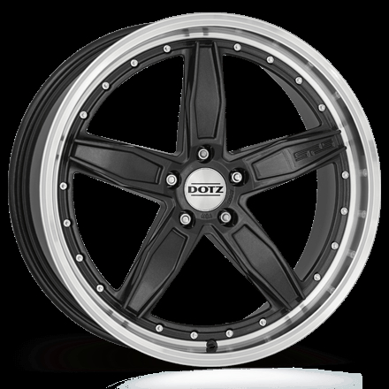 Dotz SP5 dark Gunmetal/polished lip 19""