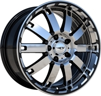 League LG241 Gloss Black & Polished GLOSS BLACK & POLISHED 18""