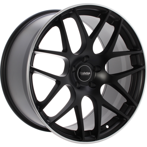 EVOLUTION S196 Matt black with polished lip 21""