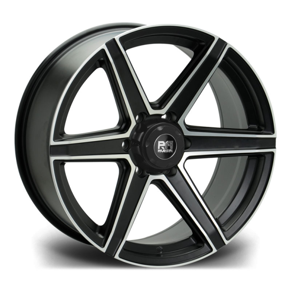 RIVIERA XTREME RX800 SATIN BLACK MILLED EDGE 20""